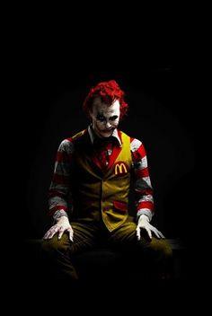 Ronald McDonald + The Joker = How a kid sees it.