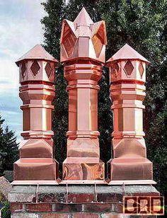 Copper chimney pots