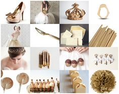Ideas and Inspiration for the Gold Themed Wedding http://niapersonbridal.wordpress.com