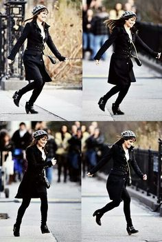 Lea Michele on set ❤ #GleeInNY