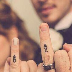 Matching tattoos - Ring finger tattoos - Wedding tattoos - Queen tattoo - Meaningful tattoos fo - Matching tattoos, Ring finger tattoos, Wedding tattoos, Queen tattoo, Meaningful tattoos for couple - Cool Wedding Rings, Wedding Matches, Perfect Wedding, Wedding Unique, Wedding Men, Trendy Wedding, Wedding Dress, Unique Tattoos, Beautiful Tattoos