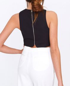 Crossing Over Crop Top Black
