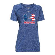 Under Armour Women's Volleyball USA Short Sleeve T-Shirt