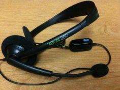 Xbox 360 Black Headset    #Black, #Headset, #Under25, #Xbox