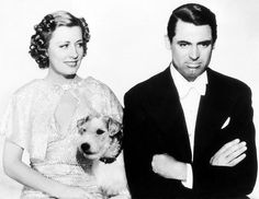 From The Awful Truth. Irene Dunn, Cary Grant and Asta ( as Mr. Smith).