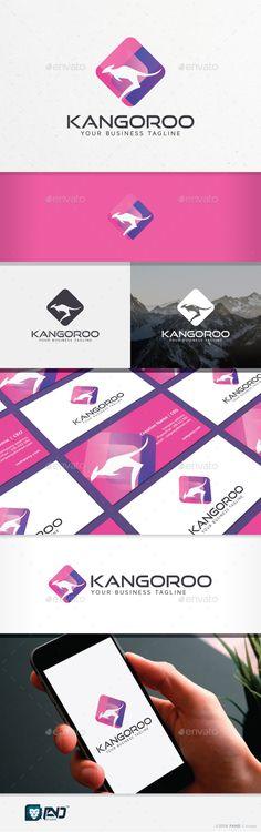 Kangoroo - Logo Design Template Vector #logotype Download it here: http://graphicriver.net/item/kangoroo/15606432?s_rank=1199?ref=nexion