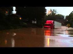 YouTube video 18 Wheeler Truck Drives Through very deep water