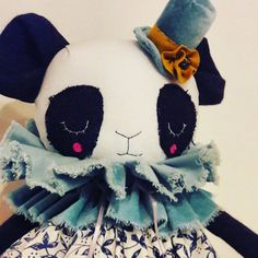 Hey, I found this really awesome Etsy listing at https://www.etsy.com/listing/507154043/ooak-frayed-panda-cloth-doll