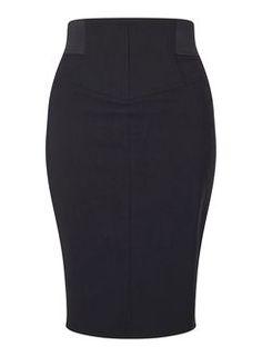 Black Bengaline Skirt