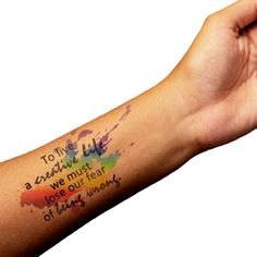 watercolor quote tattoo