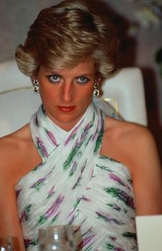 Diana In Lagos: Princess Diana (1961 - 1997) wearing a Catherine Walker gown at a banquet given by President Ibrahim Babangida in Lagos, Nigeria, March 1990. (Photo by Princess Diana Archive/Getty Images)