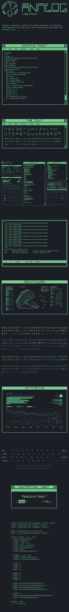 Analog Font by Jonatan Austigard, via Behance