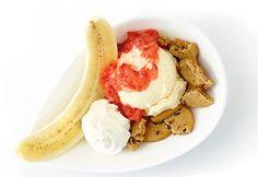 Banana split aux #fraises #bananasplit