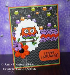Card #12 from my 2012 Halloween Card Series by AmyR of Prairie Paper & Ink