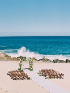 Here's Proof That a Beach Wedding Can Be Utterly Elegant and Timeless All Inclusive Destination Weddings, Wedding Week, Summer Wedding, Dream Wedding, Beach Bonfire, Couple Beach, Wedding Ceremony Decorations, Cabo San Lucas, Celebrity Weddings
