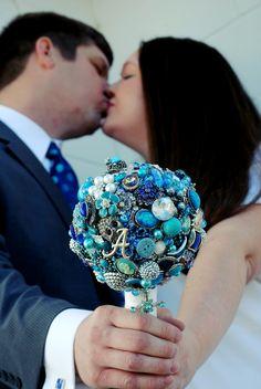 "Another brilliant bouquet idea. Creative!    ""brooch bouquet"""