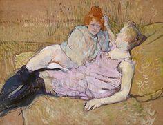 Henri de Toulouse-Lautrec (French, 1864–1901). The Sofa, ca. 1894–96. The Metropolitan Museum of Art, New York. Rogers Fund, 1951 (51.33.2)