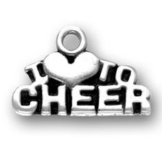 "I ""heart"" to Cheer Cheer Charm  http://www.halolujah.com"