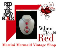 """Red Is The New Black"" by martinimermaid ❤ liked on Polyvore featuring vintage"