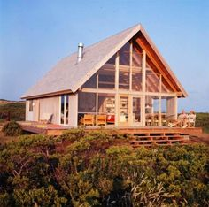 Image detail for -the little house in the city: Jens Risom Block Island Home Prefab Cabins, Prefab Homes, Cottage Design, House Design, Gazebo, Weekend House, Block Island, Lake Cottage, Cabins In The Woods