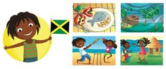 Ladybird I'm Ready to Explore My World - Barbara Bongini #jamaica #country #flag #culture #food #childrensbook #illustration #kidlitart #barbarabongini