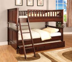 Found it at Wayfair - Milton Twin Futon Bunk Bed Twin Full Bunk Bed, Twin Futon, Triple Bunk Beds, Futon Bunk Bed, Bunk Bed With Trundle, Kids Bunk Beds, Twin Twin, Loft Beds, Double Beds