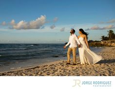 Jorge Rodriguez Photography - Destination Wedding Photography & Portrait based in Playa del Carmen, covering Tulum, Cozumel, Isla Mujeres, Cancun & Riviera Maya Mexico  - Engagement Photography Tulum Mexico: Rani & Travis stayed at Grand Palladium Colonial but they decided to book the transportation service for an additional fee and explore Tulum during the sunrise, we had a great fun stopping the morning rush hour on the road and climbing some rocks next to the ocean..Upon request, I will…