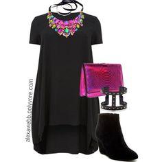 """Plus Size - NYE Swingdress"" by alexawebb… Curvy Fashion, Love Fashion, Girl Fashion, Autumn Fashion, Fashion Outfits, Plus Fashion, Womens Fashion, Petite Fashion, Style Fashion"