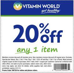 vitamin world 20 off item printable coupon