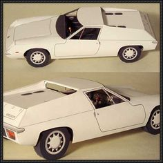 Lotus Europa Paper Car Free Vehicle Paper Model Download - http://www.papercraftsquare.com/lotus-europa-paper-car-free-vehicle-paper-model-download.html