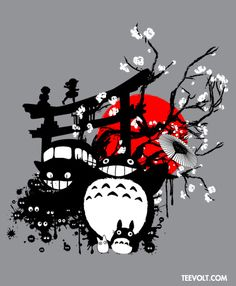 """teevolt:""""Japanese Spirits"""" By Ilona is Now on Sale for 5 Days At the AMAZING price of $12/€9/£7.5 @ http://teevolt.com"""