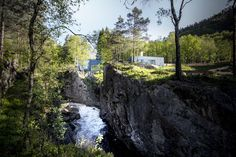 Exterior view. Salmon ladder at the Kvasfossen waterfall. Photograph © Tom Auger.