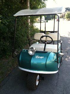 57cf6b951243de3106b44858bab0bb75 vintage golf golf carts $3,500 1950's electric marketeer golf cart rufus and gerald tour the