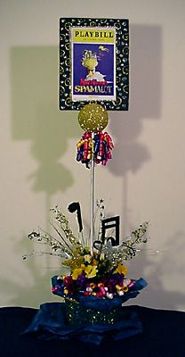 Broadway playbill table centerpieces