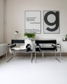 """urbnite: """"Wassily Chair by Marcel Breuer """" Marcel Breuer, Poltrona Swan, Chair Design, Furniture Design, Bold Living Room, Design Bauhaus, Wassily Chair, Design Industrial, Small Apartment Design"""