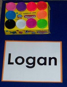 PLAY DOUGH NAMES — Create play dough name mats for each of the students. It's as easy as writing their names on paper and laminating them. They can use the play dough to trace over each letter in their names. Kindergarten Names, Preschool Names, Kindergarten Centers, Kindergarten Literacy, Early Literacy, Name Writing Activities, Early Learning Activities, Alphabet Activities, Literacy Activities