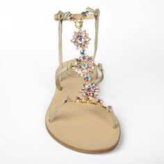 Crystal embellished #luxury #sandals by Emanuela Caruso available exclusively in the UK at www.lilylola.com. Fast worldwide shipping available. Perfect for your #wedding or #honeymoon