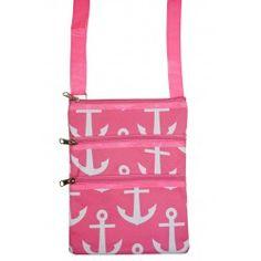 Pink Anchors Cross Body Bag https://allaboutyougifts.com/#DG0306