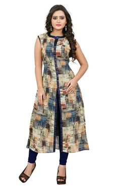 Experience the best of east-meets-west & north-meets-south with these party wear Kurtis with us. Latest Kurti Designs help you stick to your Indian fashion styling sense while staying modern at the same time. Salwar Designs, Printed Kurti Designs, Simple Kurti Designs, Kurta Designs Women, Kurti Neck Designs, Kurti Designs Party Wear, Dress Neck Designs, Latest Kurti Designs, Designer Salwar Kameez