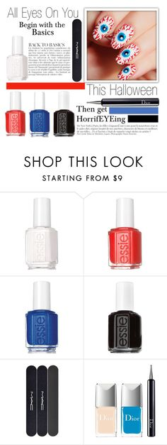 """""""Halloween Nails"""" by missmodel13 ❤ liked on Polyvore featuring beauty, Anja, Essie, MAC Cosmetics and Christian Dior"""
