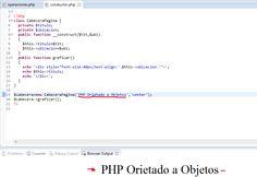 En este código php se crea un constructor