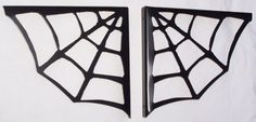 Spider Wall Shelf Brackets, 1 Pair  -  by: ModernIronworks  -  color: Satin Black  -  material: Iron  -  $37.99