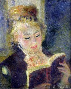 Pierre Auguste Renoir - Lesende, 1874