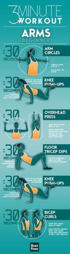 3 minute arms workout for beginners More