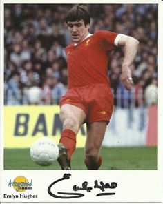 Emlyn Hughes, Signed Autographed Editions 10 x 8 football photo. Emlyn Hughes, Football Photos, Liverpool Fc, Baseball Cards, Retro, Sports, Hs Sports, Excercise, Retro Illustration