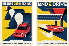 Creative Review - DDB NY's new Hertz posters