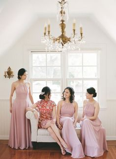 A Micro Wedding at a Historic Landmark Home With the Most Lush, Floral Arch You've Ever Seen! Floral Arch, Bridesmaid Dresses, Wedding Dresses, Fashion, Pink, Wedding Bridesmaids, Lilac, Chic, Group Photos
