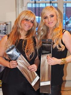 Carla and Lauren from 2nd Opinion Salon in Handforth not only stock Dianne Marshall Remi hair extensions, but they also both wear them! www.diannemarshall.com #hair #hairextensions #blonde