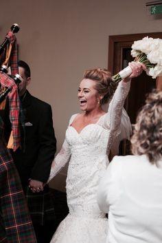 Our wedding breakfast entrance, apex wedding Edinburgh