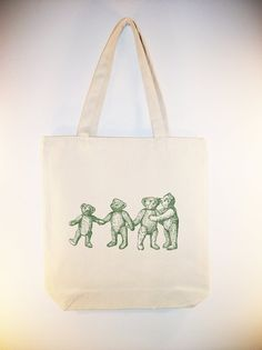 Vintage+Teddy+Bears+Image+Canvas+Tote+++available+in+by+Whimsybags,+$12.00